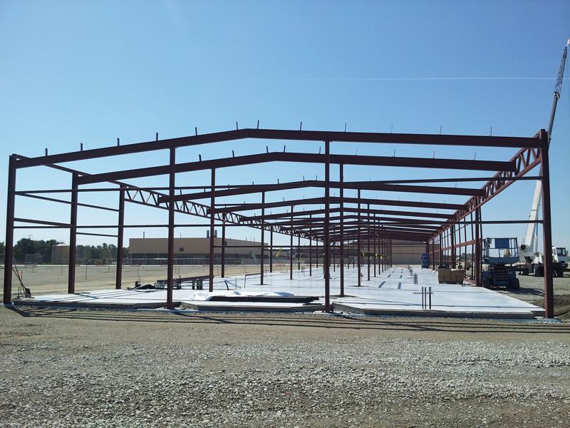 Photos t hangar construction progresses midcoast regional redevelopment authority for Architecture hangar