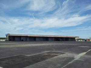 Back side of T-hangars.