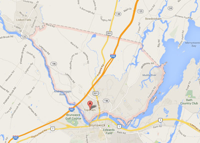 Map of Topsham, Maine