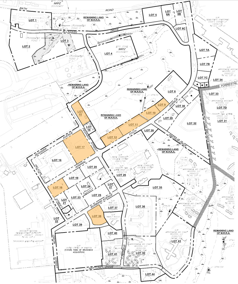 Brunswick Landing Subdivision Phase I Lots Midcoast