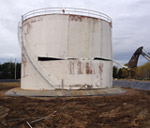 Fuel farm demolition nears completion.