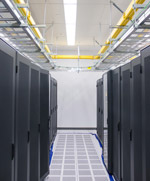 Oxford Networks' new servers at Brunswick Landing IT facility.
