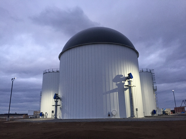Anaerobic digester at Brunswick Landing, Maine
