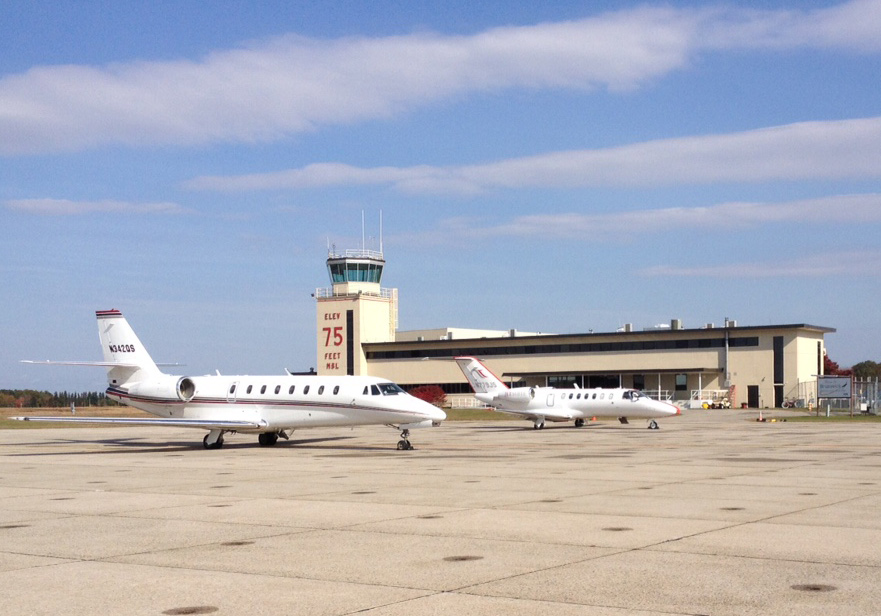 Corporate Jets At BXM Airport Maine
